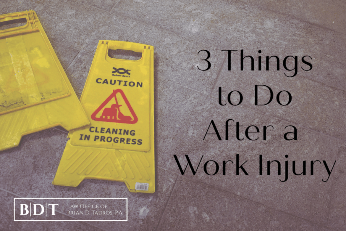 3 Things to Do After a Work Injury