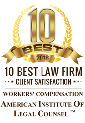 //bdtlawfirm.com/wp-content/uploads/2018/09/10-BEST-Workers-Compensation-Division-Law-Firm-Badge-174x251.png
