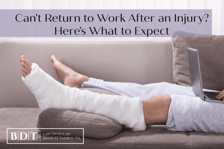 Can't return to work after an injury? Here's what to expect.
