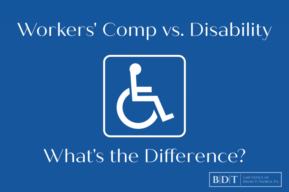 Workers' comp vs. disability...what's the difference?