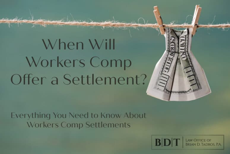 When will workers comp offer a settlement?