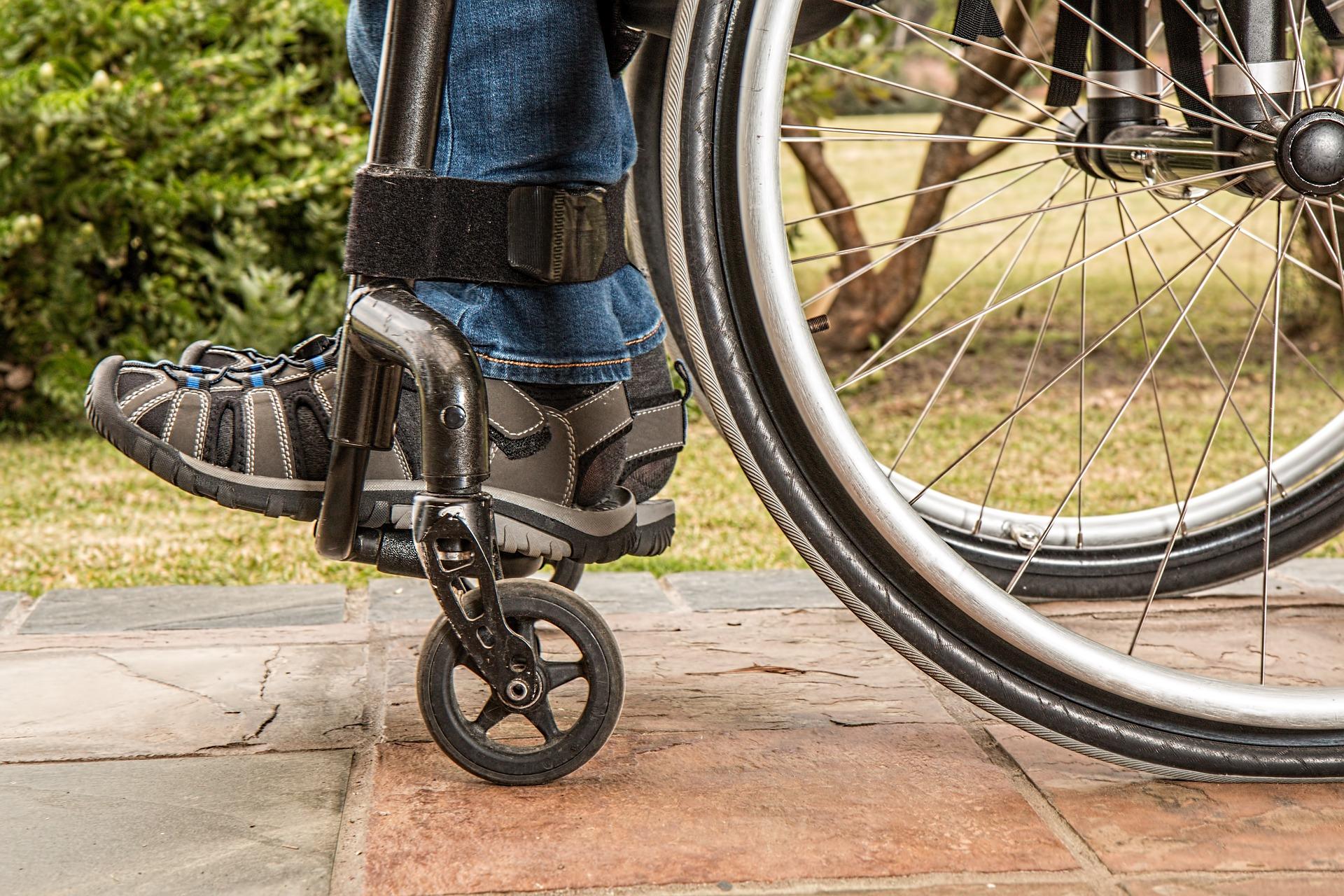legs in wheelchair