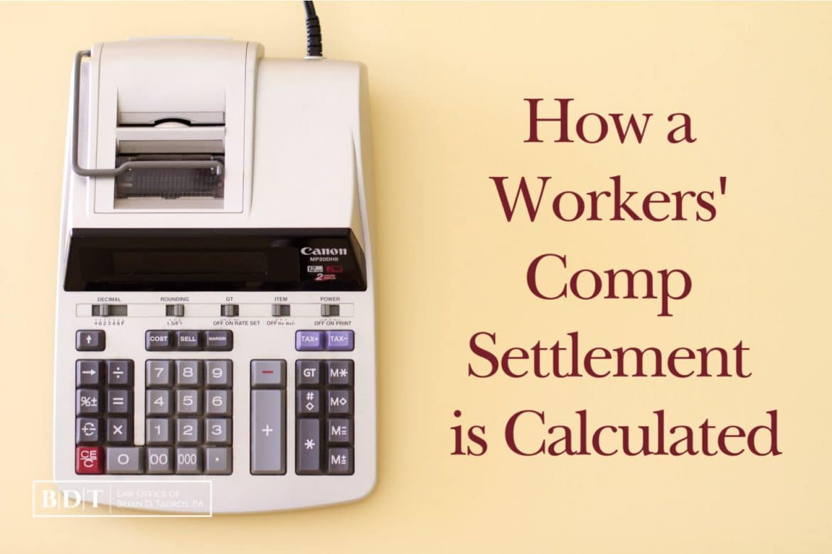How a Workers' Comp Settlement is Calculated