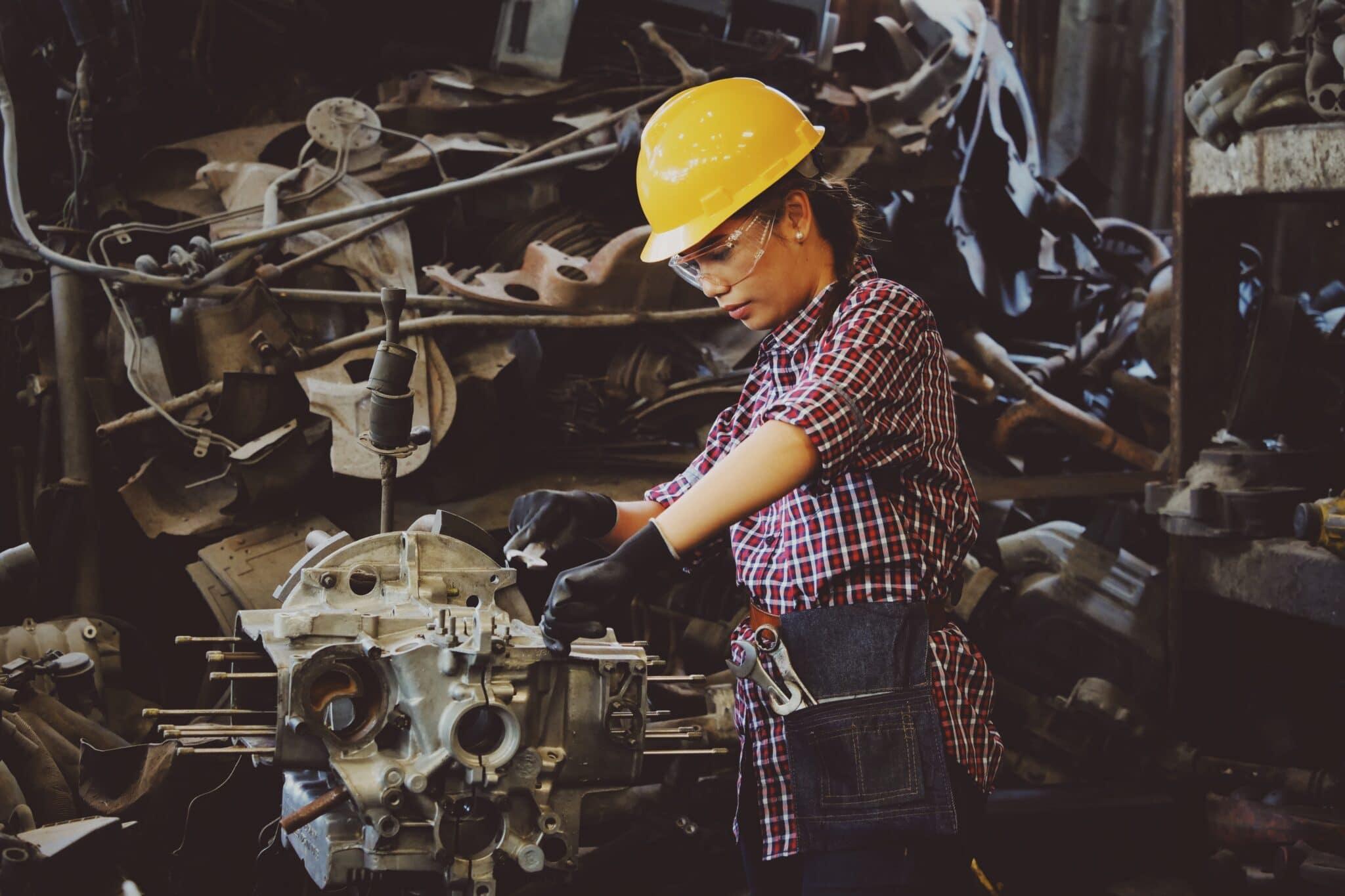 female machine worker